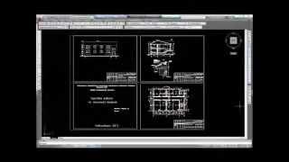 Архитектурно строительный чертеж в AutoCAD