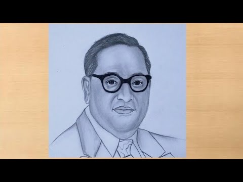 Download How to draw Dr BR Ambedkar step by step