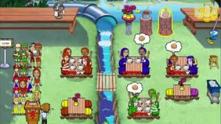 Diner Dash: Seasonal Snack Pack - Coral Cove Cafe Expert Level (Water Park Madness!)