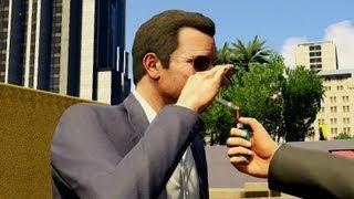 GTA V CUT SCENE -  MICHAEL SMOKING HARDCORE WEED