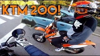 MOTO-VLOG ON TOUR ! KTM 200 SUPERMOTO, SCRAMBLER, CB 500 !