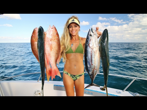 Offshore Fishing Multi Species SUPPER Slam!  Mahi, Mutton, Tuna & MORE!