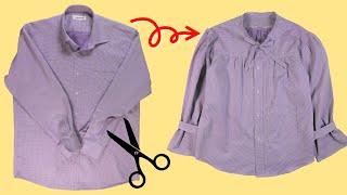 와이셔츠를 러블리한 블라우스로 리폼/ reform/ U…