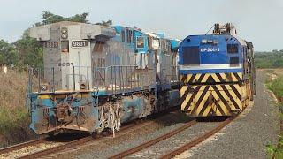 No Trilho - Trem SOS retornando com locomotivas acidentadas