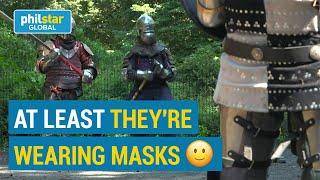 New York's gladiators fight in Central Park