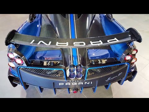 "Pagani Huayra BC Macchina Volante ""flying machine"" Blue BEAST delivery to Pagani Miami"