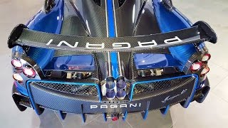 "Pagani Huayra BC Macchina Volante ""flying machine"" Blue BEAST delivery to Pagani Miami"