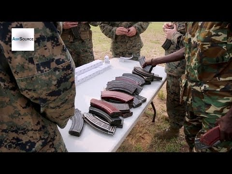 US Marines Conduct Live Fire Training with Burundi National Defense Force
