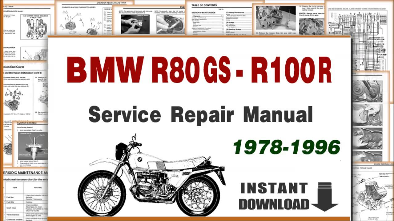 1978 1996 bmw r80g s and bmw r 100 r service repair manual
