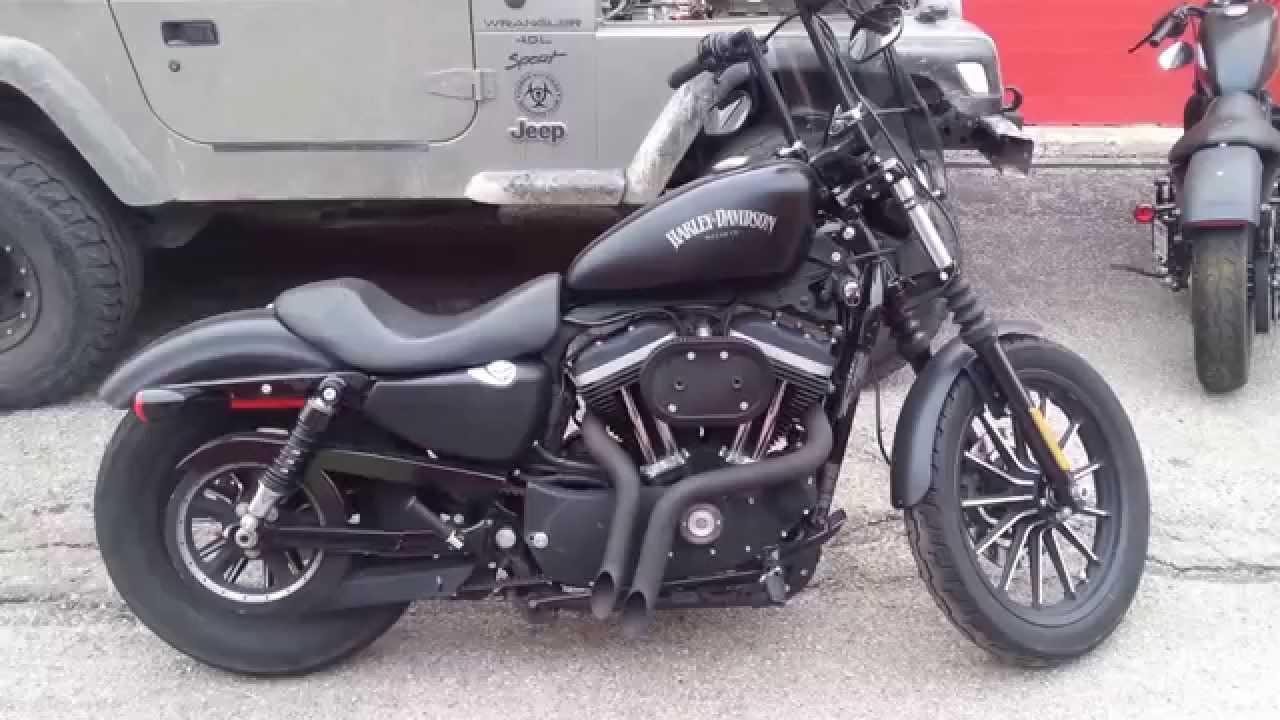 Santee LAF Y-PIPES Harley Davidson iron - YouTube