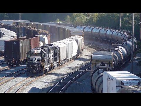 Rail Yards Never Sleep: Norfolk Southern Brosnan Yard Macon GA, Part 1/2, 09/30/2016
