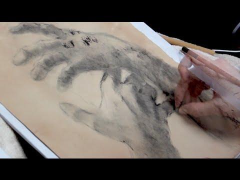 ASMR Drawing Lesson - Hands Part 1 (soft spoken, sketch sounds)