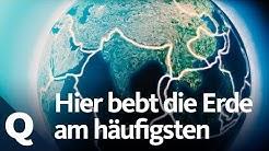 Erdbeben-Gebiete: Wo die Erde häufig bebt | Quarks