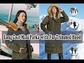 Womens Puffer Long Coat Maxi Parka with Fur Trimmed Hood