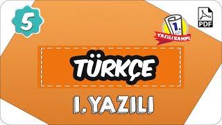 5. Sınıf Türkçe 2. Dönem 1. Yazılı  2020