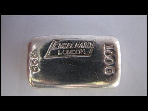 [HD] 100 Gram Vintage Silver Bullion Bar - Engelhard London