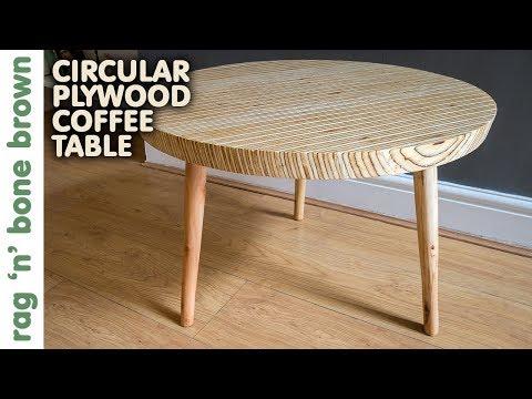 Circular Plywood Coffee Table