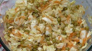 видео постный салат