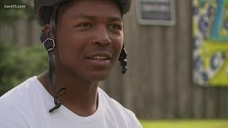 Minneapolis man rides for racial justice