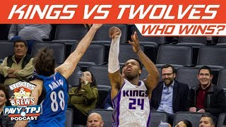 Who Wins Sacramento Kings vs Minnesota Timberwolves | Hoops N Brews