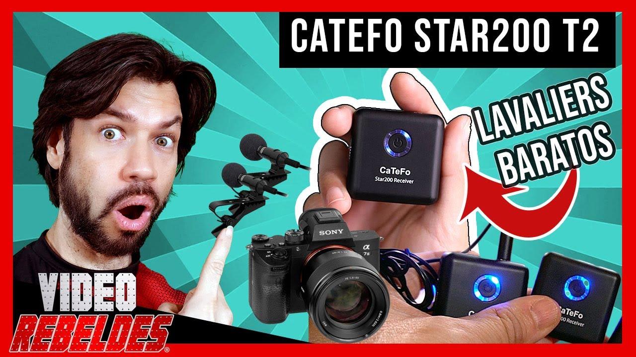 Microfono Inalambrico Para Grabar Videos- 💲 BARATO‼/(CATEFO Star200 T2)