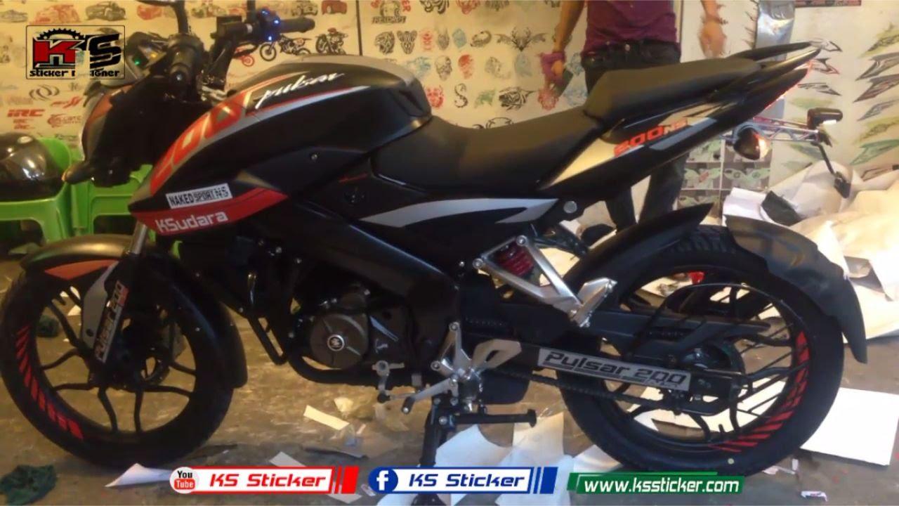 Bike Stickers Design Honda Shine Dio Pulsar 200ns Bajaj Modified Sticker New Model