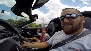 Surprising my little girl at school on grand fathers corvette c7