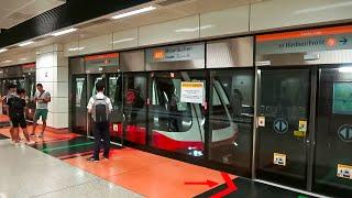 RailWay. SMRT Train Circle line on Mountbatten station / Поезд кольцевой линии сингапурского метро