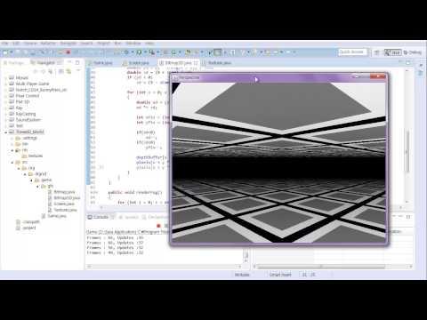 #2 Java Classical 3D Rendering Tutorial : Floor Texturing