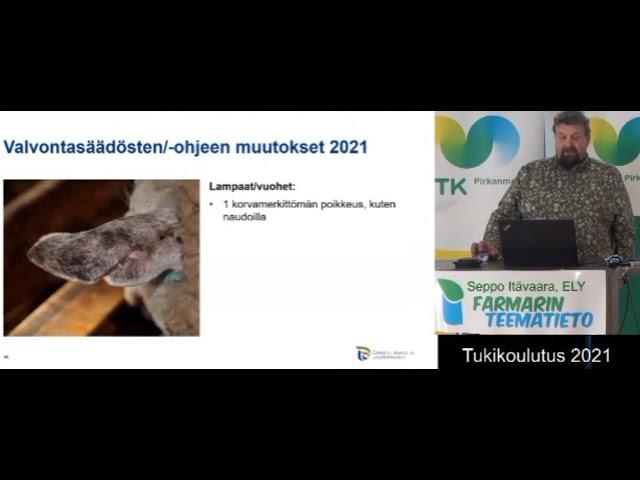 Farmarin Teematieto tukikoulutus 2021 eläinasiaa