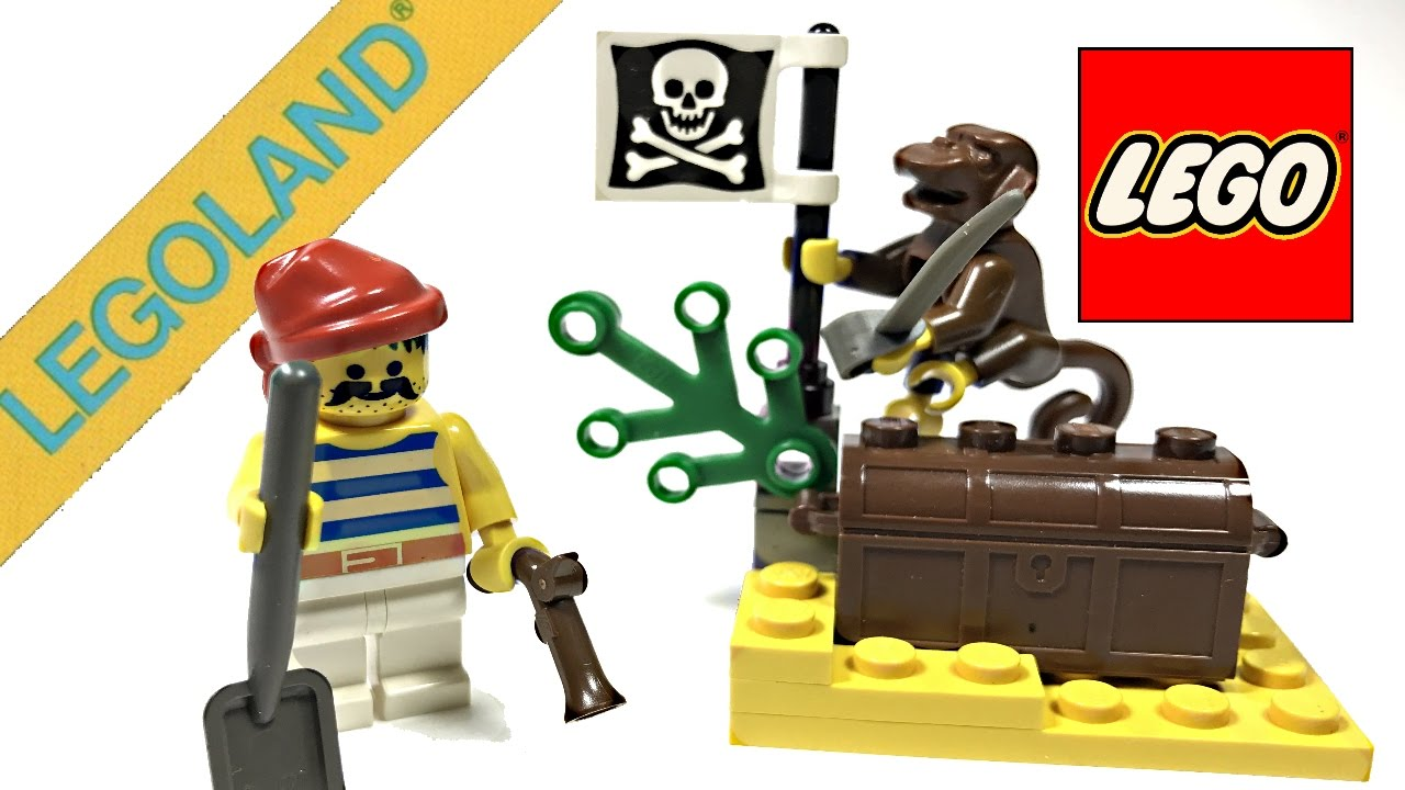 first lego pirates set ever 1989 buried treasure review 6235 - Lego Pirate