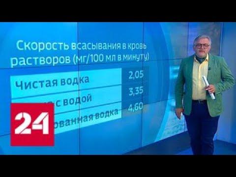Пузырьки в 40 градусов: газированная водка пошла в народ - Россия 24
