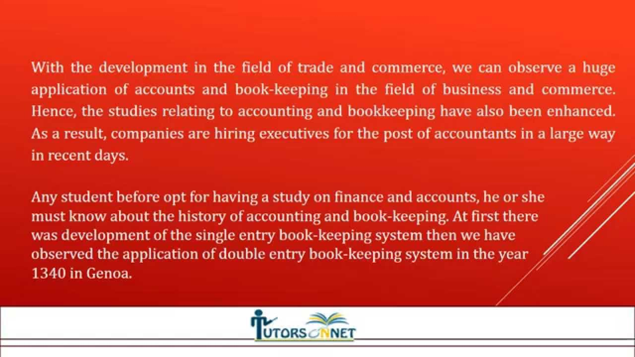 History of Accounting and Book Keeping - YouTube