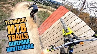 RIDING THE MOST TECHNICAL MTB TRAILS OF BIKE PARK WINTERBERG!