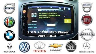 Gambar cover 2DIN stereo 7010B MP5 Player - Tutorial vehicle LOGO