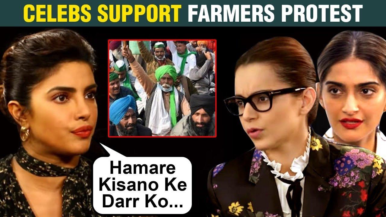 Download Priyanka Chopra,Sonam Kapoor, Riteish Deshmukh Bollywood Stars Support Farmers Protest | Share Posts
