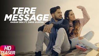 Tere Message (Teaser) | Karan Sra Ft Sara Gurpal | Goldboy | Speed Records