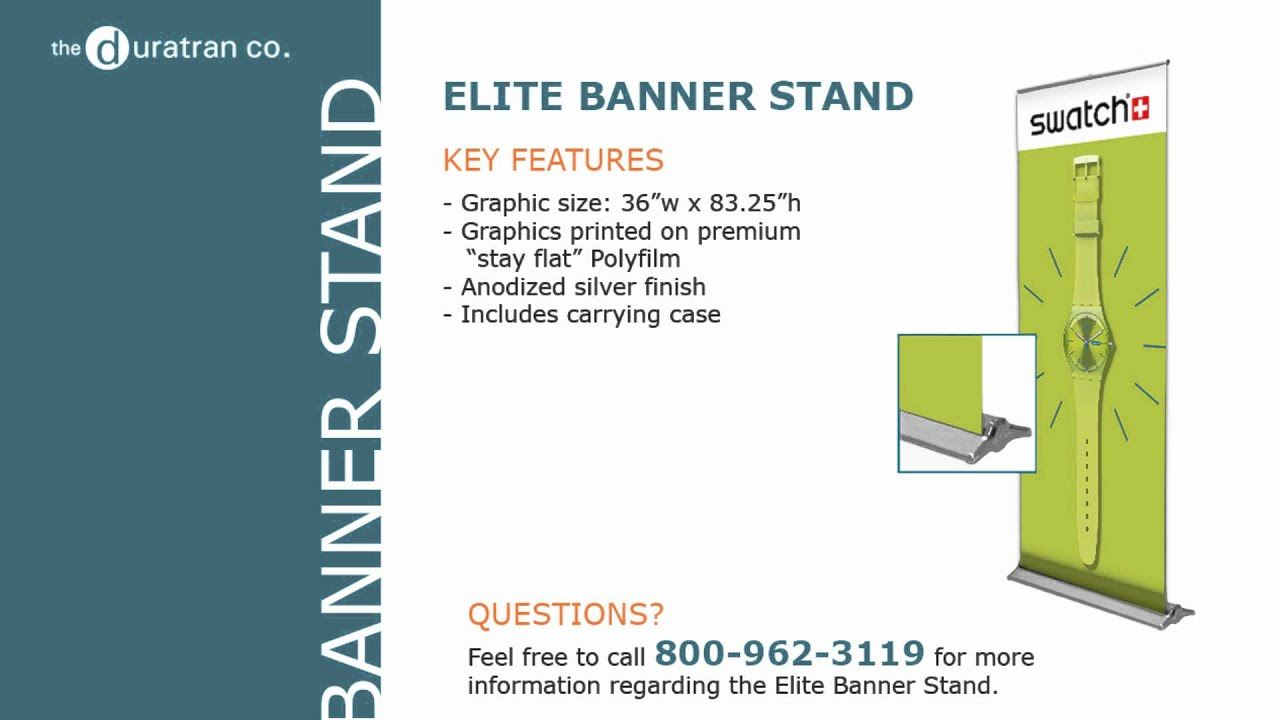 The Duratran Company: Elite Banner Stand Pop Up Display