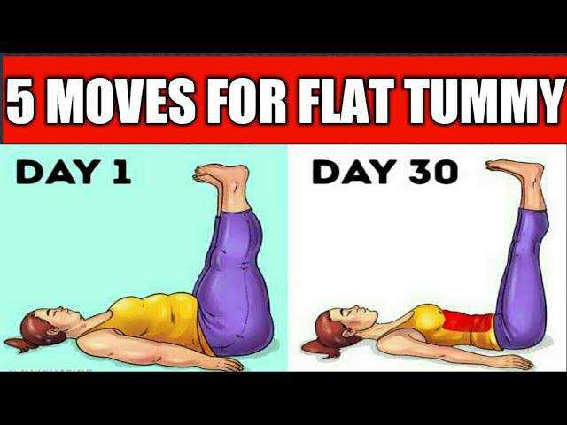 5 Exercises To Get Flat Stomach In Just 1 Month Easy Belly Fat Burning Exercises