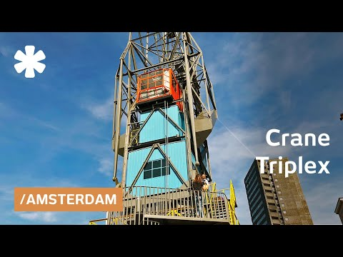 Vacated harbor crane becomes tiny flat perched over Amsterdam