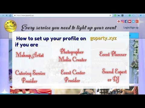 Tutorial: How to create a business profile on goparty.xyz thumbnail
