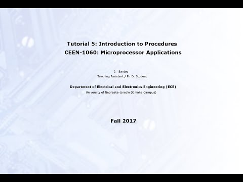 Lecture 5: Introduction to Procedures