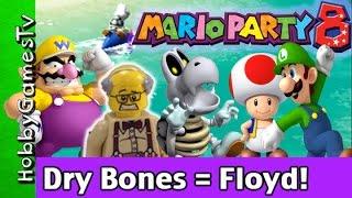Mario Party 8 Floyd Dry Bones! Nintendo Wii GamePlay HobbyKids + HobbyFloyd by HobbyGamesTV