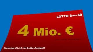 Lotto Ziehung Samstag 1.10.2016 - Heute 4.000.000 im Lotto Jackpot