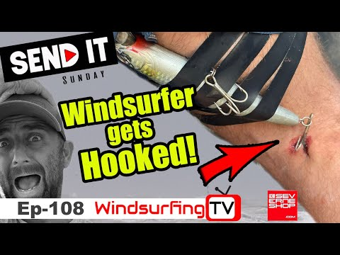 #108 - Windsurfer gets caught  by Fishing line!!!– Send it Sunday