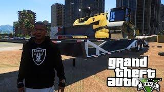 Construction Drop Off! GTA 5 Real Hood Life 2 #194