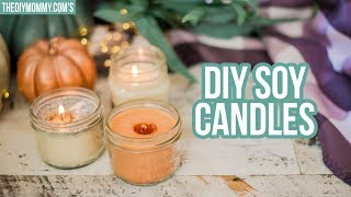 FALL DIY 🍂 3 Ways to Make Soy Candles