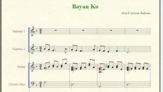 Bayan Ko - Philippine Patriotic Song (Music Notation)