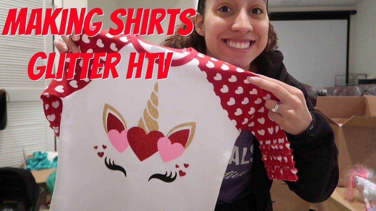 How To Layer Glitter Heat Transfer Vinyl! Making YouTube Merch! Etsy Business! Work Motivation