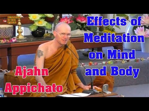 Effects Of Meditation On Mind And Body - Ajahn Appichato _ Dharma Talks